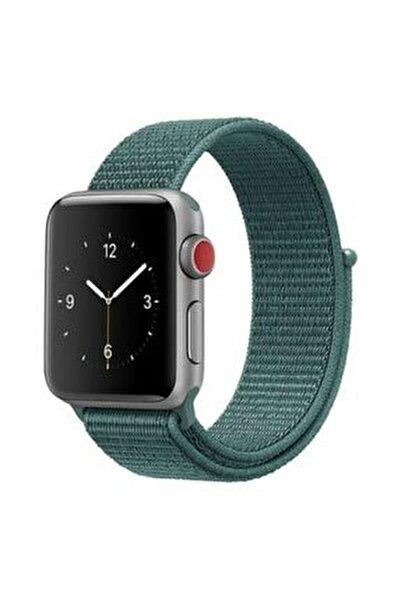 Apple Watch 2 3 4 5 6 Se Uyumlu 38 Mm Ve 40 Mm Için Dokuma Kordon Kayış - Çam Yeşili