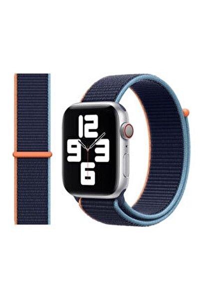 Apple Watch 2 3 4 5 6 Se Uyumlu 38 Mm Ve 40 Mm Için Dokuma Kordon Kayış - Deep Navy
