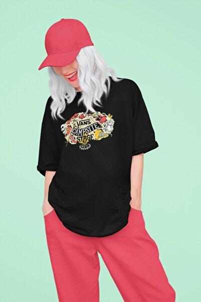 Vans (7)- Unisex Siyah Oversize T-shirt