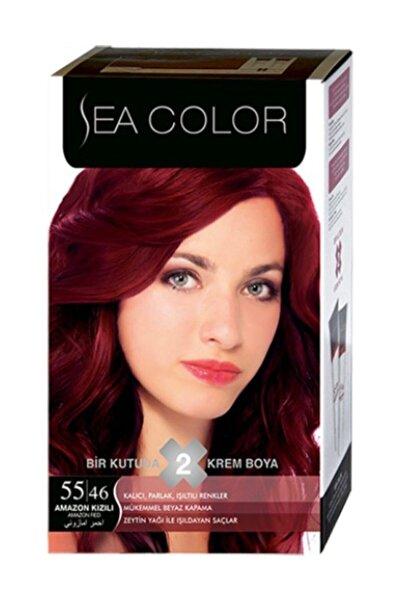 Sea Color Saç Boyası Amazon Kızılı 55/46