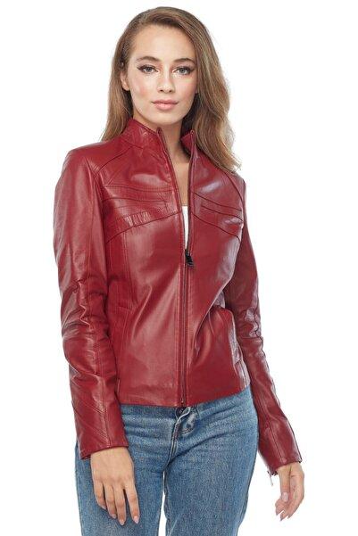 Deriza Kadın Cinzia Kırmızı Deri Ceket 2228