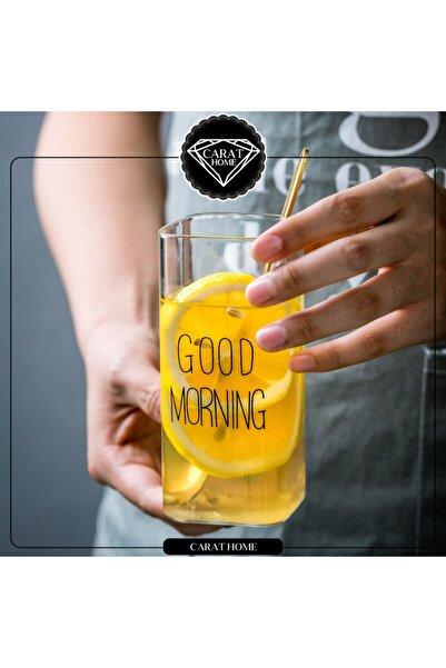 Carat Home Good Morning Borosilikat Kare Cam Bardak 380ml