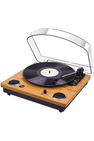 Record Master Tt249 Retro Pikap - Bluetooth + Mp3 Kayıt Özelliği- 33, 45, 78 Devir
