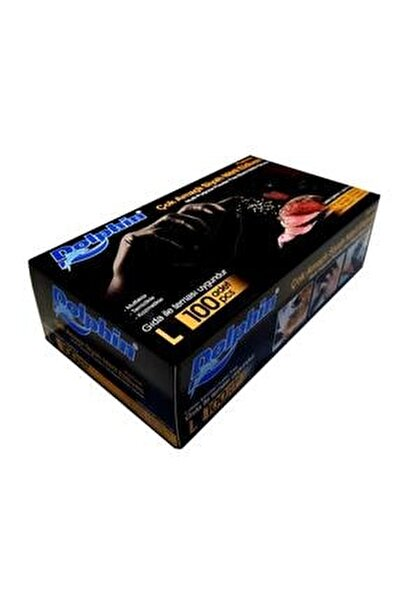 Nitril Siyah Eldiven ( L ) Beden ( 100'lü Paket )