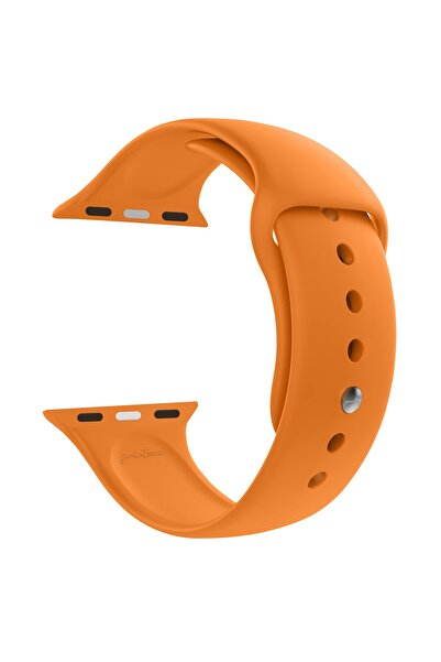 printone Apple Watch 1 2 3 4 5 6 Se Nike 42mm 44mm Uyumlu Kordon Spor Silikon Bileklik S/m - Turuncu