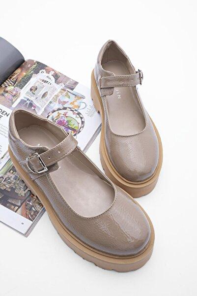 Marjin Kadın Kalın Taban Günlük Ayakkabı Gesofvizon Rugan