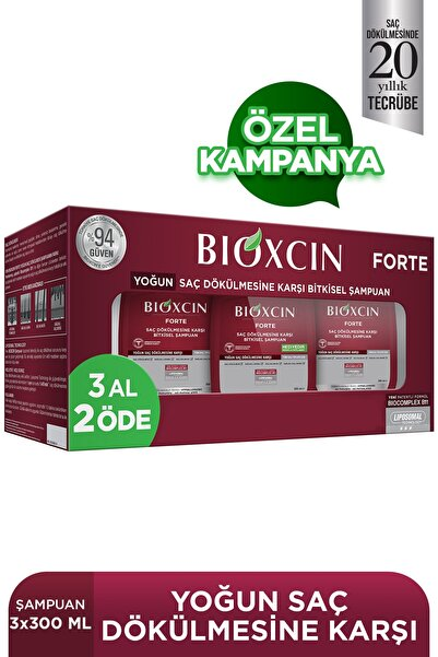 Bioxcin Forte Bitkisel Şampuan 300 ml 3'lü