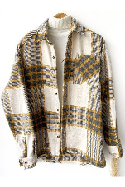 Hazhers Erkek Kışlık Yeni Sezon Pamuklu Kaşe Kumaş Oduncu Gömlek