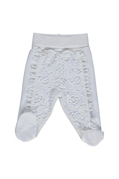 Bebetto Pantolon Patikli Penye Lacy Baby - Ekru