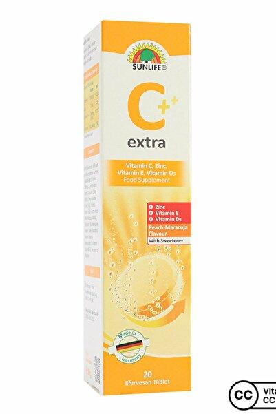 Sunlife Vitamin C Extra Efervesan Tablet 20 Adet