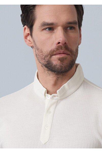 Ramsey Erkek Ekru Jakarlı Örme T - Shirt RP10119895