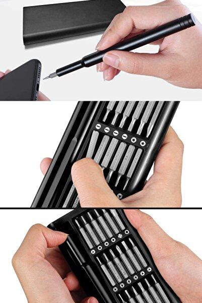 esmelen Akıllı Her Eve Lazım Profesyonel Taşınabilir Metal Telefon Saat Smart Tornavida 24 Parça Universal