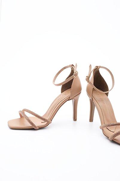Marjin Kadın Abiye Topuklu Ayakkabı SaproBej