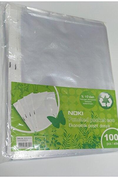 Noki Nokı Eco Şeffaf Poşet Dosya A4 100'lü Paket