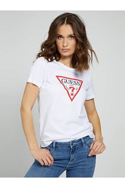 Guess Ss Cn Orıgınal Beyaz Kadın Tişört