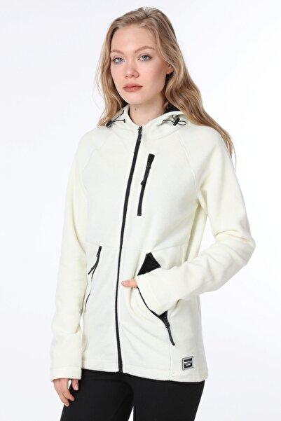 GHASSY CO. Kadın Kapüşonlu Climb Polar Spor Ceket