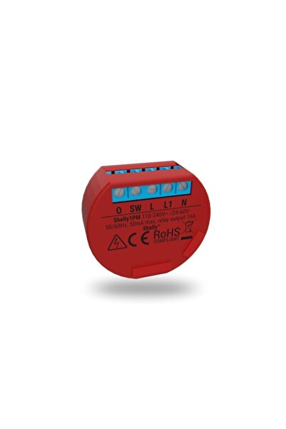 Shelly 1pm - Akıllı Wi-fi Röle Anahtar 16a ( Elektrik Tüketimini Uzaktan Kontrol Edin )