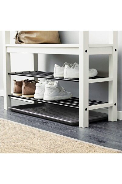 IKEA Baggmuck Ayakkabı Tepsisi Ayakkabı Standı Ayakkabılık 71x35 Cm Koyu Gri
