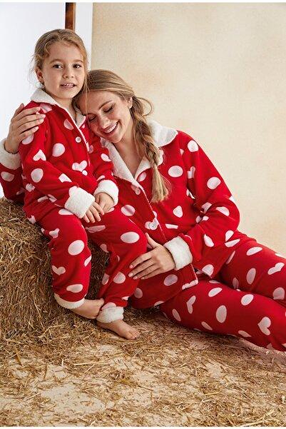 ELİTOL Anne-kız Welsoft Düğmeli Pijama Takım