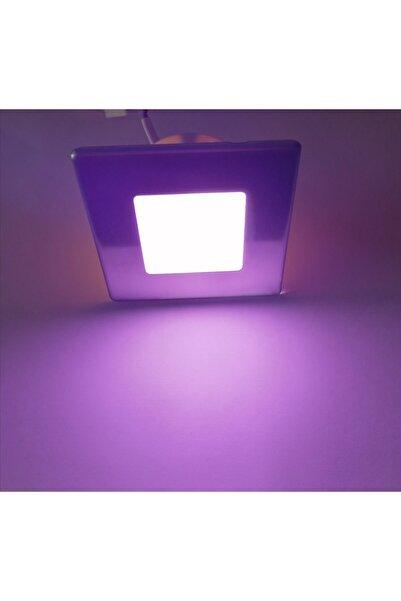 sekizgen led 3 Renk Ledli Koridor Ve Merdiven Adım Spotu 3 Watt (lila + Mavi+ Günışığı)