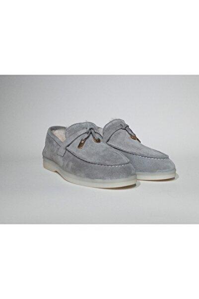 BELİSİA Kadın Grisüet Comfort Loafer Ayakkabı P2520