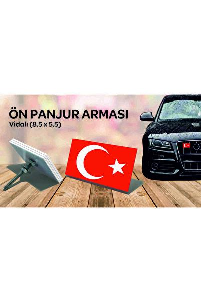ajans kılıç Oto Ön Panjur Arması Türk Bayrağı (vidalı)