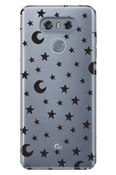 LG G6 Kılıf Pure Modern Desenli Silikon Ayyıldız