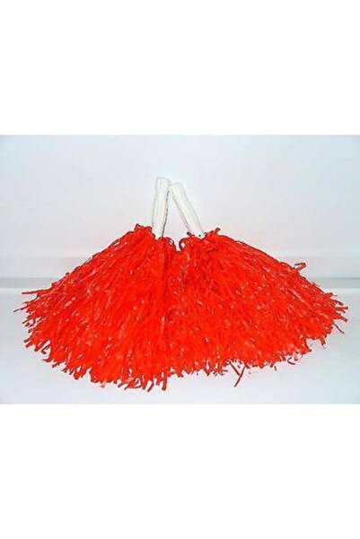 Çarşımodu Kırmızı Renk Gösteri Ponponu Çift