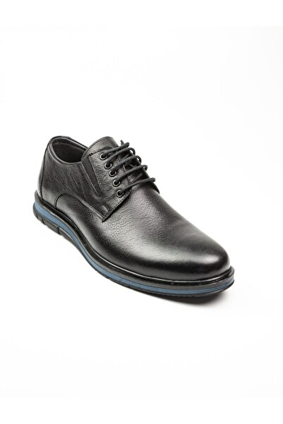Nobel 1026 Erkek Deri Klasik Ayakkabı Siyah Siyah-44