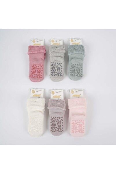 Artı Ezra Kaydırmaz Taban 3'lü Kız Bebek Havlu Soket Çorap