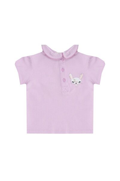 Mammaramma Rab004 Lila Baskılı Kız Bebek T-shirt