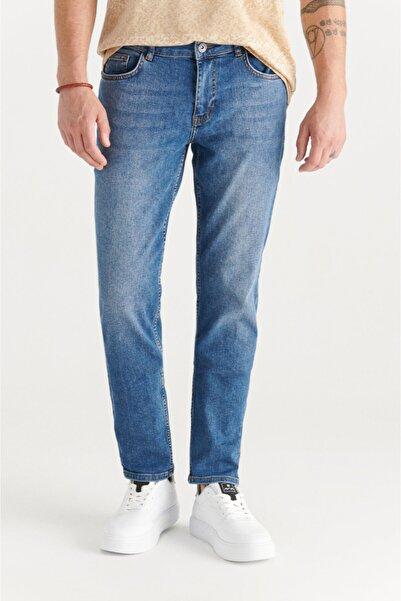 Avva Erkek Mavi Slim Fit Jean Pantolon E003521