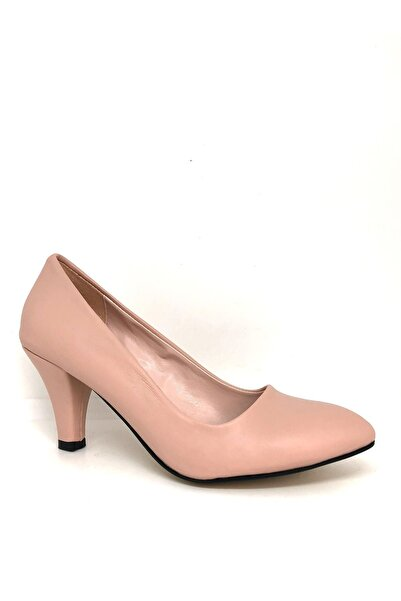YGTSHOES Kadın Stiletto Orta Topuk Ayakkabı
