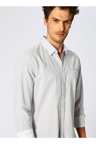 Fabrika Erkek Desenli Beyaz Gömlek