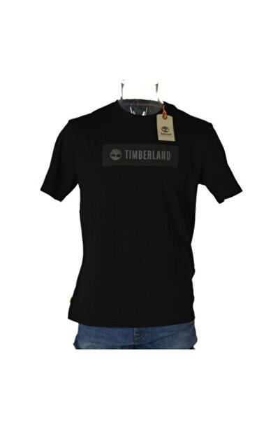 Timberland Linear Branded Tee Siyah Erkek T-shirt - Tb0a2g44001