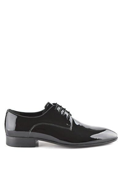 İgs Erkek Siyah  Rugan Deri Klasik Ayakkabı İ18725-1 M 1000
