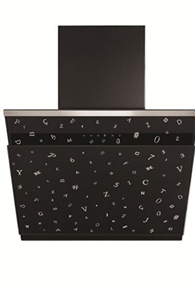 Simfer 8649 Parola Serisi 60 cm Yatık Siyah Davlumbaz