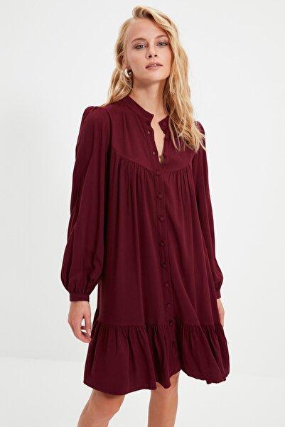 TRENDYOLMİLLA Mürdüm Geniş Kesim Gömlek Elbise TWOAW21EL0169