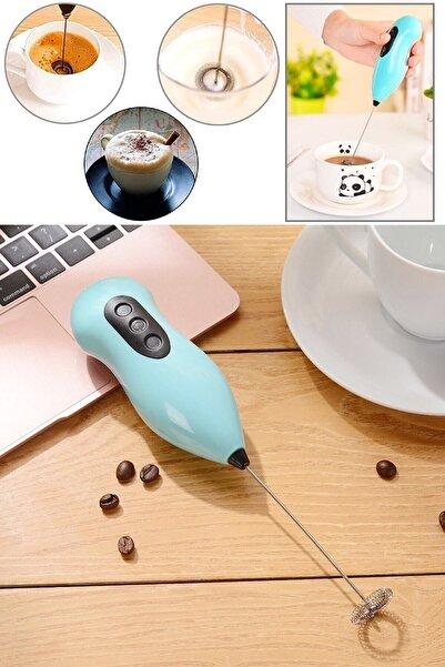 ORKAN Mini Yumurta Karıştırıcı Süt Köpürtücü El Mikseri Pilli Kahve Çırpıcı Telli Blender