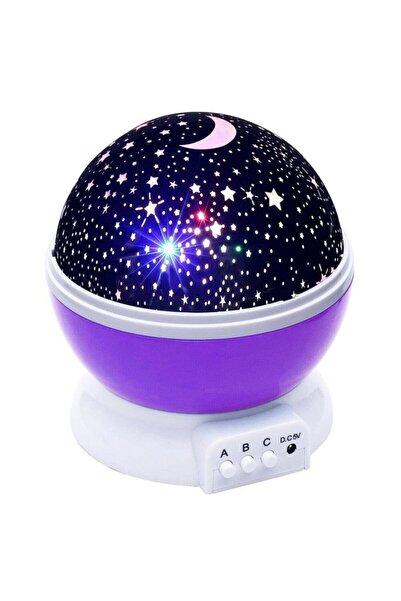 SGE Projektörlü Yansıtmalı Çocuk Bebek Odası Gece Lambası Mor