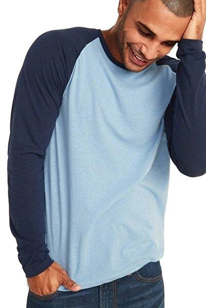 Newear Uzun Kollu Mavi-lacivert Erkek Tişört