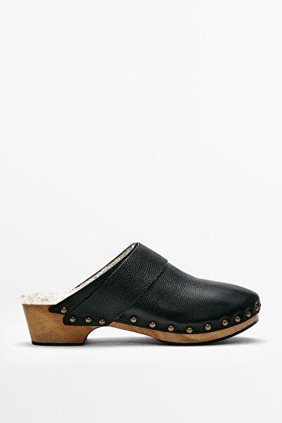 Massimo Dutti Deri ve Ahşap Bantlı Sabo Ayakkabı