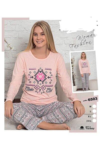 LİLA PİJAMA Pamuklu Uzunkollu Pijama Takımı