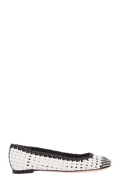 ALEXANDER MCQUEEN Kadın Çok Renkli Babet Amq417157Whk831053-Blackıvoryblack