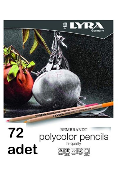LYRA Rembrandt Polycolor Kuru Boya 72 Li Metal Kutu L2001720