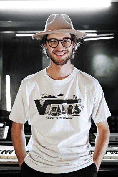Vans (8)- Unisex Beyaz Oversize T-shirt