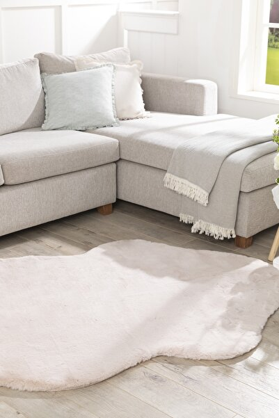 English Home Solid Rabbit Polyester Post 80x150 Cm Pudra