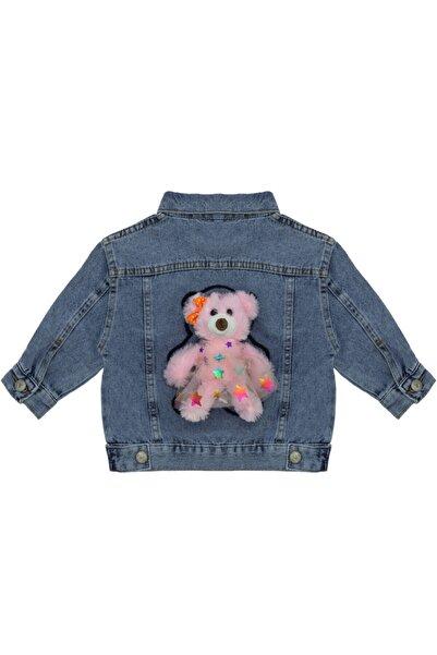 Kids Of Heart Pembe Ayılı Açık Mavi Kot Ceket