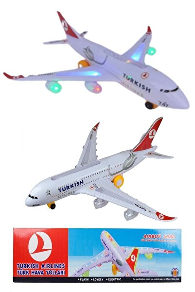 Hyd Turkish Airlines Airbus Sesli Işıklı Pilli Oyuncak Uçak