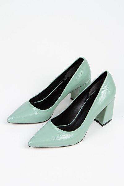 Alessia Shoes Kadın Yeşil Dekolte Stiletto